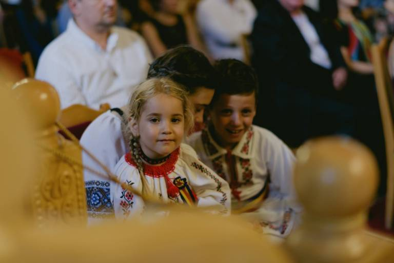Children at traditional Wedding in Cluj Romania