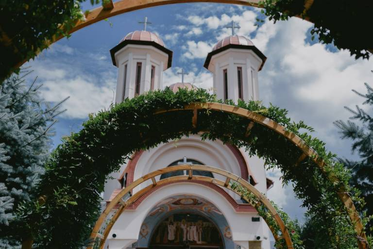 Traditional Wedding Church in Cluj, Romania