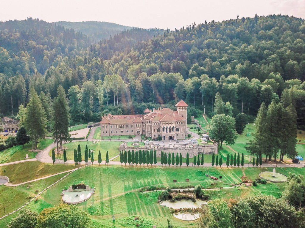 Cantacuzino Castle Aerial View