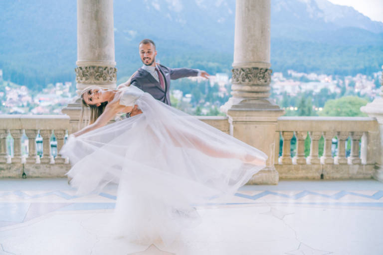 Ballerina Fairytale Castle Wedding in Romania