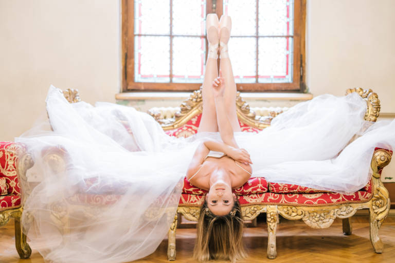 Ballerina Wedding at Cantacuzino Castle in Romania