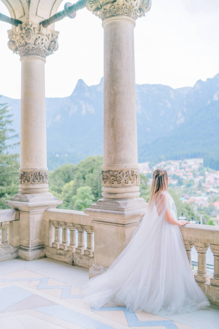 Panoramic Mountain View Balcony at Cantacuzino Castle