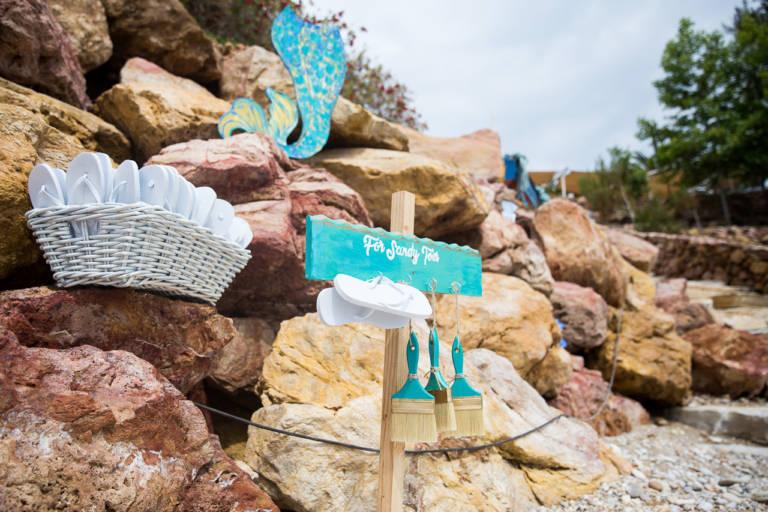 Papuci de plaja - Marturii pentru invitati la nunta pe plaja in Thassos, Greece