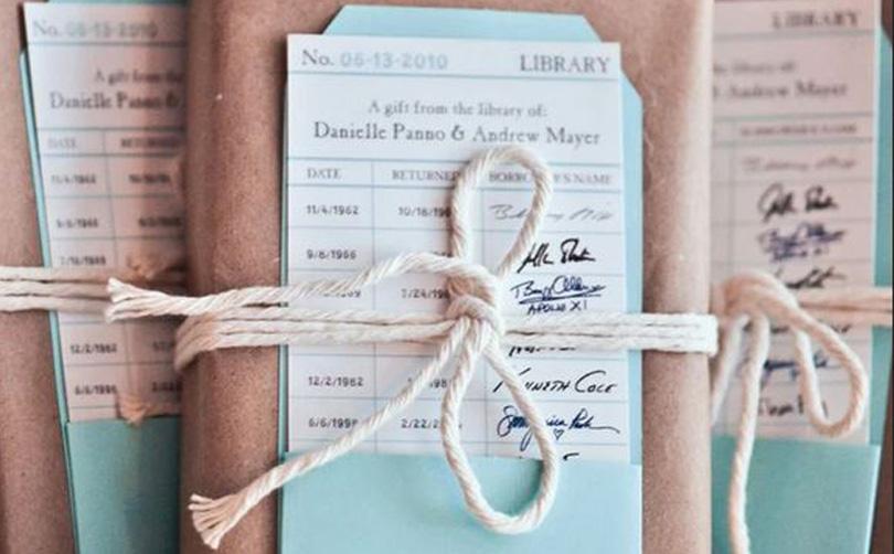 books wedding favor