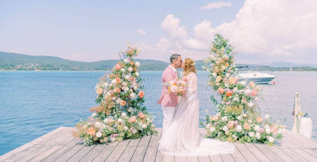 Deck wedding in Greece